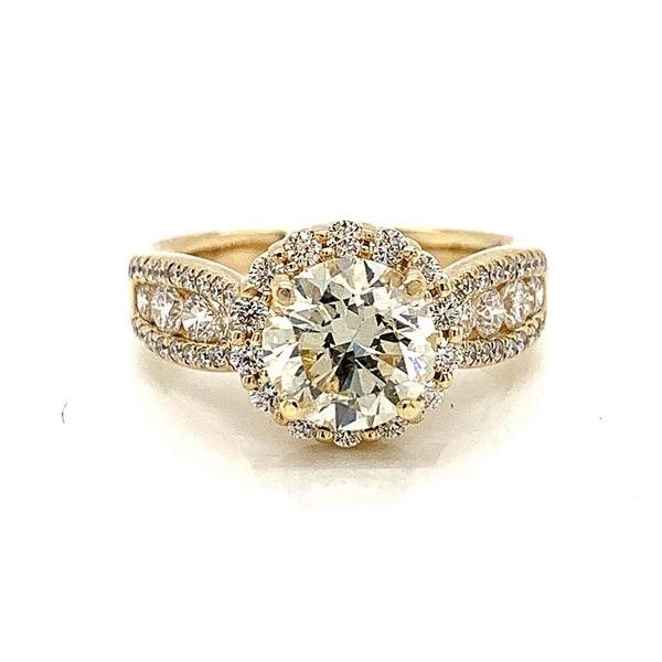 14k Yellow Gold Diamond Engagement Ring with 1.33ct Round Diamond Arezzo Jewelers Chicago, IL