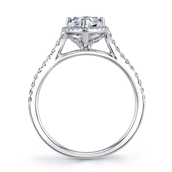 MARS Pear Halo Diamond Engagement Ring - 0.30 ct tw Image 2  ,