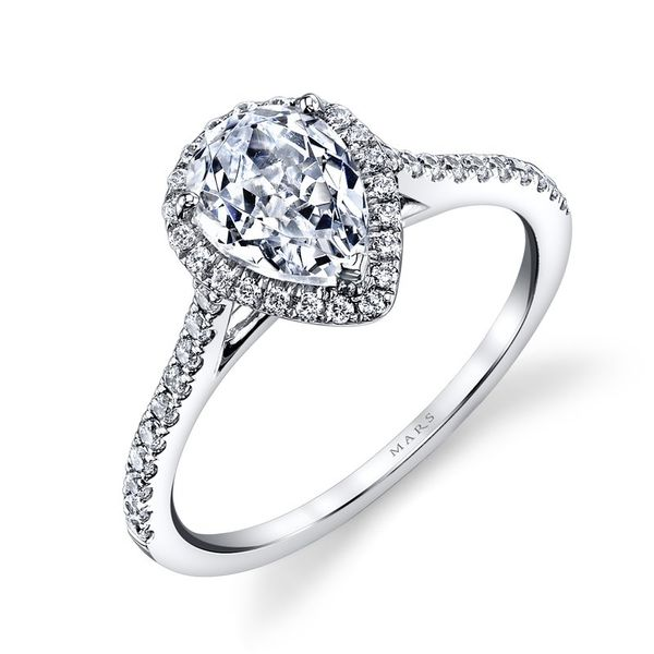 MARS Pear Halo Diamond Engagement Ring - 0.30 ct tw Image 3  ,