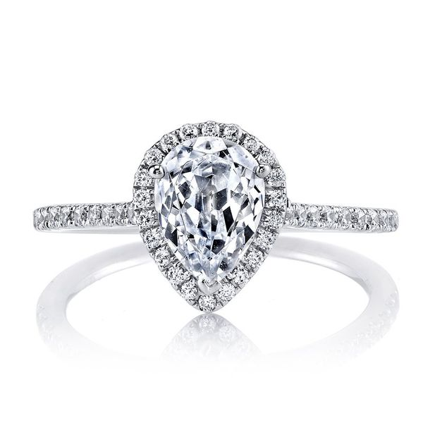 MARS Pear Halo Diamond Engagement Ring - 0.30 ct tw Arezzo Jewelers Chicago, IL