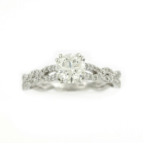 Diamond Engagement Ring, Twist Design - 1.08cts TW Arezzo Jewelers Chicago, IL