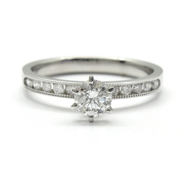 14k White Gold Channel Set Diamond Engagement Ring, .71cts TW Arezzo Jewelers Chicago, IL
