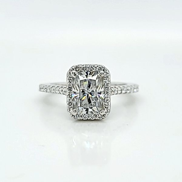 Emerald Halo Diamond Engagement Ring, .47cts Arezzo Jewelers Chicago, IL