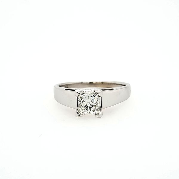 14k White Gold Diamond Solitaire Engagement Ring, .73cts Image 2 Arezzo Jewelers Chicago, IL
