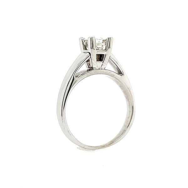 14k White Gold Diamond Solitaire Engagement Ring, .73cts Image 4 Arezzo Jewelers Chicago, IL