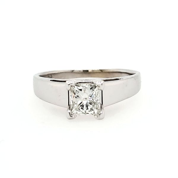 14k White Gold Diamond Solitaire Engagement Ring, .73cts Arezzo Jewelers Chicago, IL