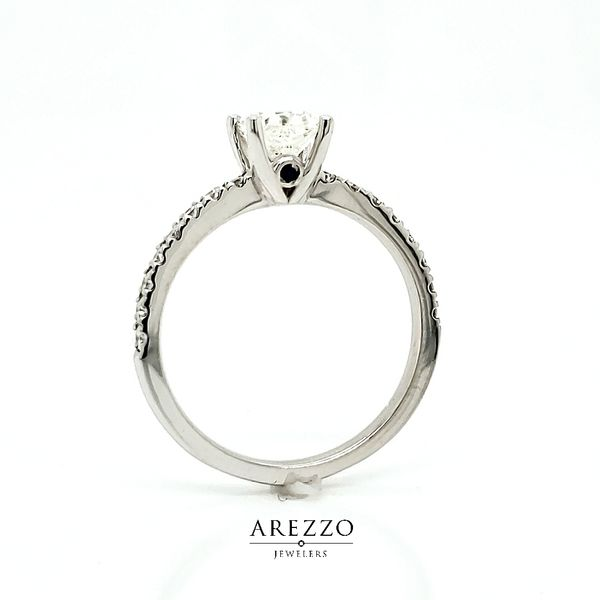 1.03ct Cushion Diamond Engagement Ring Image 3 Arezzo Jewelers Chicago, IL