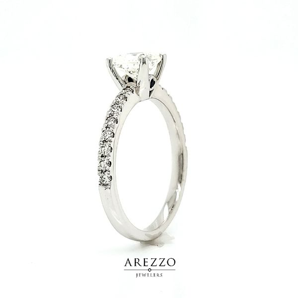 1.03ct Cushion Diamond Engagement Ring Image 4 Arezzo Jewelers Chicago, IL