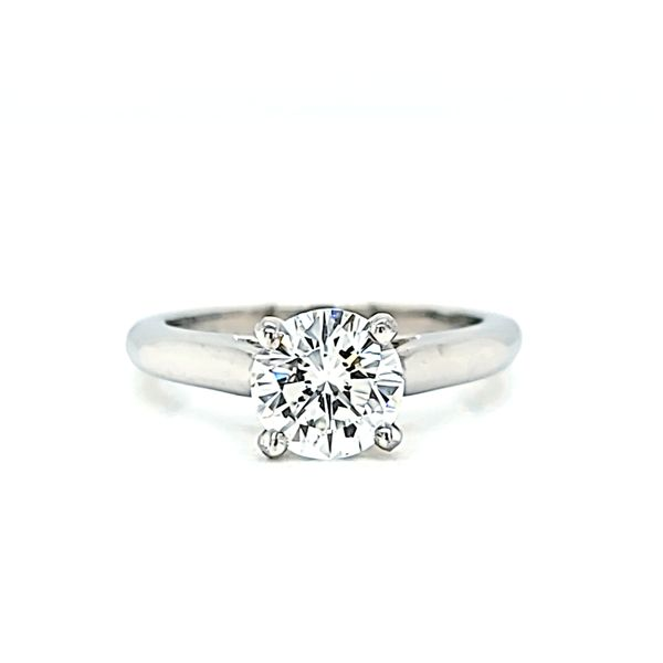 Platinum Cartier Solitaire Round Diamond Engagement Ring, 1.05ct GIA Image 2 Arezzo Jewelers Chicago, IL