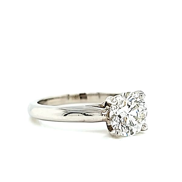 Platinum Cartier Solitaire Round Diamond Engagement Ring, 1.05ct GIA Image 3 Arezzo Jewelers Chicago, IL