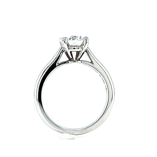 Platinum Cartier Solitaire Round Diamond Engagement Ring, 1.05ct GIA Image 4 Arezzo Jewelers Chicago, IL