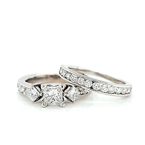 Princess Cut Diamond Engagement Ring and Wedding Band Set, 1.68cts TW Image 2 Arezzo Jewelers Elmwood Park, IL