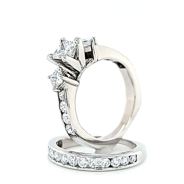 Princess Cut Diamond Engagement Ring and Wedding Band Set, 1.68cts TW Image 3 Arezzo Jewelers Elmwood Park, IL