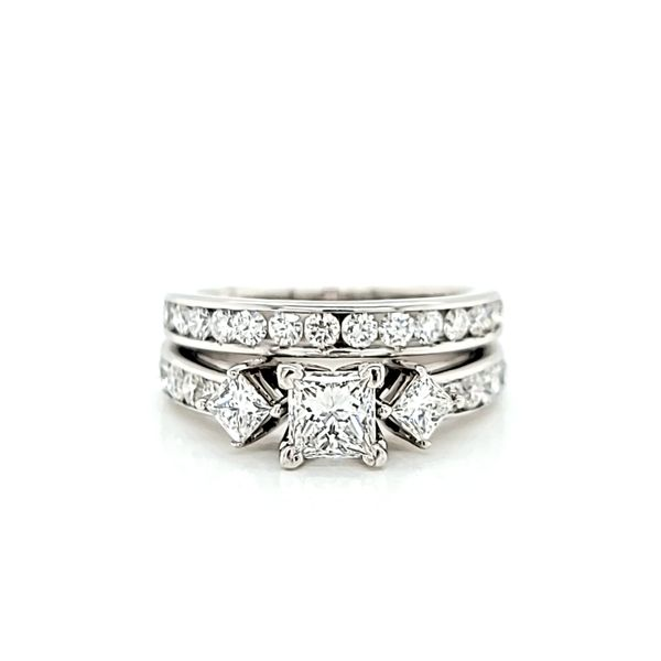 Princess Cut Diamond Engagement Ring and Wedding Band Set, 1.68cts TW Arezzo Jewelers Elmwood Park, IL