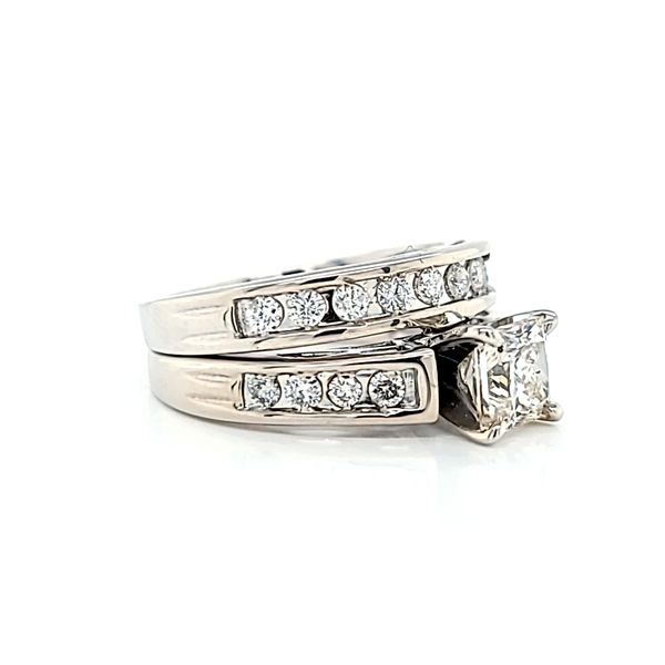 Princess Cut Diamond Engagement Ring and Wedding Band Set, 1.55cts Image 3 Arezzo Jewelers Chicago, IL