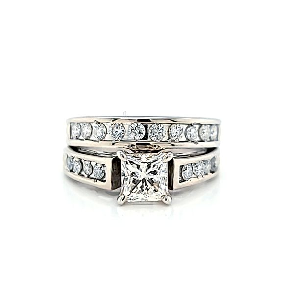 Princess Cut Diamond Engagement Ring and Wedding Band Set, 1.55cts Arezzo Jewelers Chicago, IL