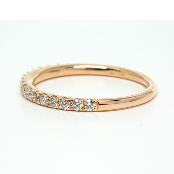 14K Rose Gold Petite Stackable Wedding Band Image 2 Arezzo Jewelers Chicago, IL
