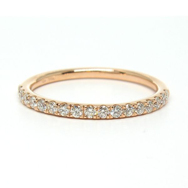 14K Rose Gold Petite Stackable Wedding Band Arezzo Jewelers Chicago, IL