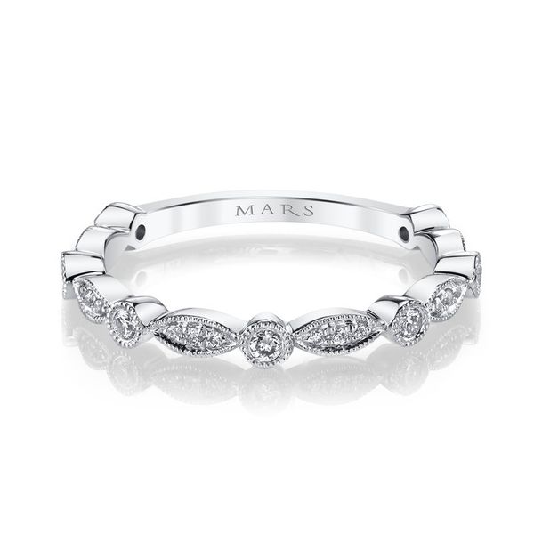 MARS Diamond Stackable Wedding Band, .18ctw. Arezzo Jewelers Chicago, IL