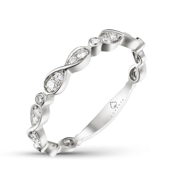 White Gold Diamond Anniversary Band - .18cts Arezzo Jewelers Chicago, IL