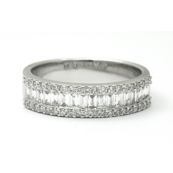 18k White Gold Diamond Anniversary Band Arezzo Jewelers Chicago, IL