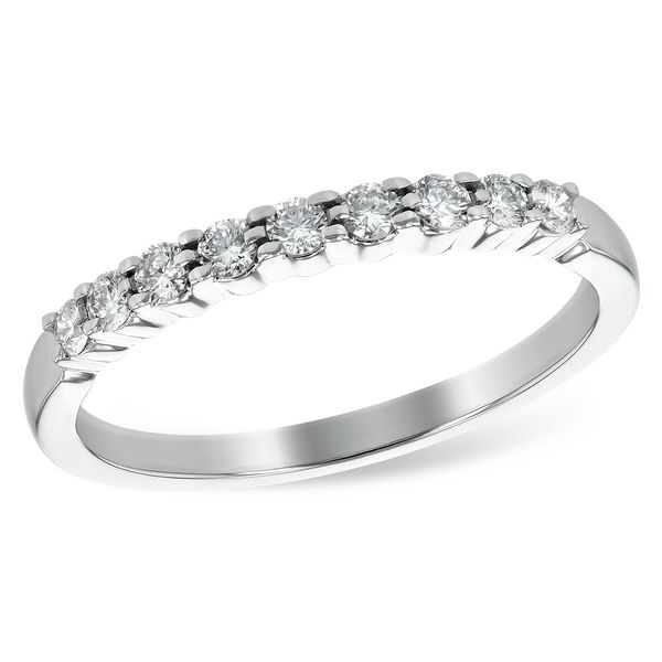 14k White Gold Diamond Wedding Band, .25cts Arezzo Jewelers Chicago, IL
