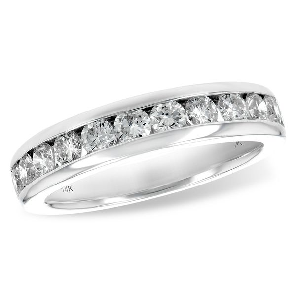 14k Channel Set Diamond Wedding Band, 1.00cts Arezzo Jewelers Chicago, IL