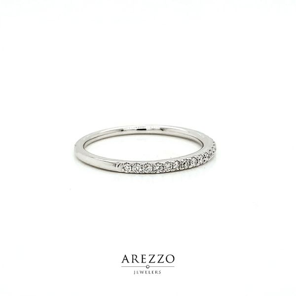 14k White Gold Petite Diamond Stackable Wedding Band, .16cts Image 2 Arezzo Jewelers Chicago, IL