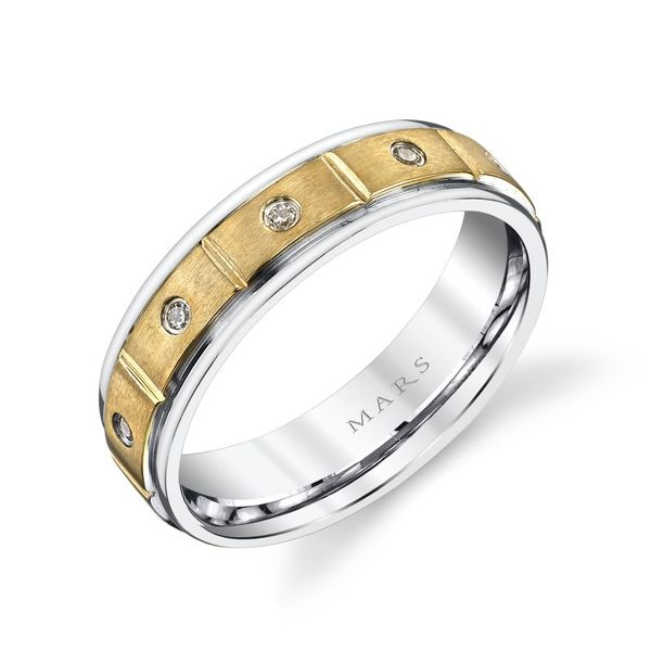 Men's Wedding Band, .20cts Image 2 Arezzo Jewelers Chicago, IL
