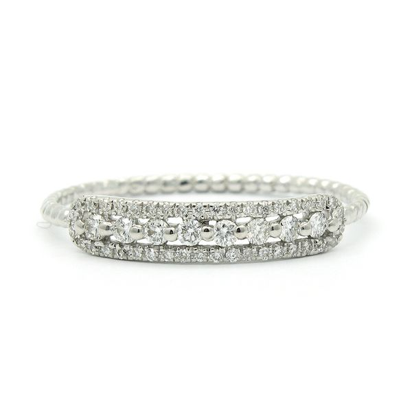 18k White Gold Diamond Stackable Ring Arezzo Jewelers Chicago, IL