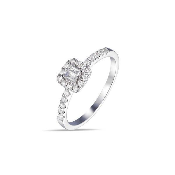 14k Halo Style Diamond Ring Arezzo Jewelers Chicago, IL