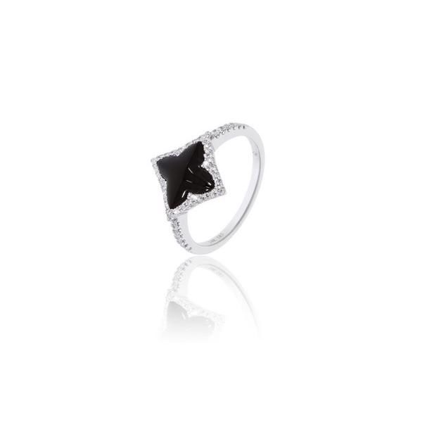 14k Diamond and Onyx Ring Arezzo Jewelers Chicago, IL