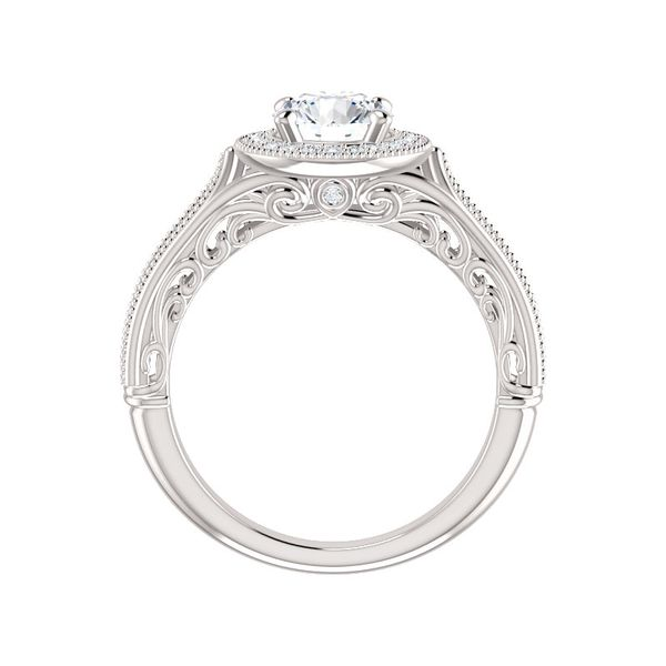 Vintage-Inspired Halo-Style Engagement Ring Image 2 Arezzo Jewelers Chicago, IL