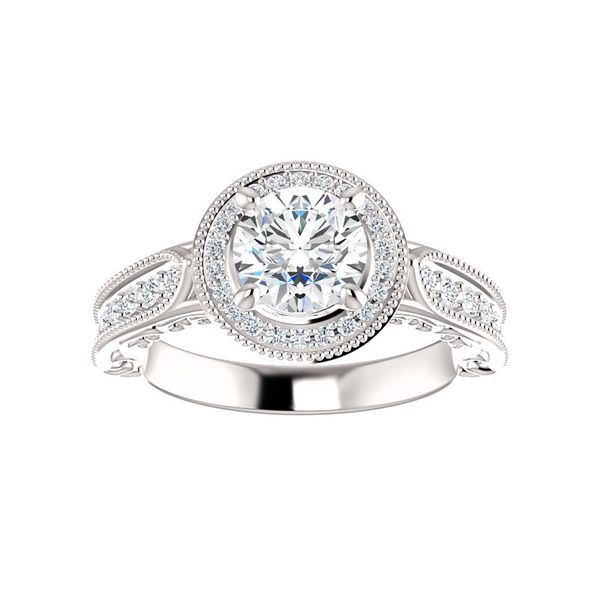 Vintage-Inspired Halo-Style Engagement Ring Arezzo Jewelers Chicago, IL
