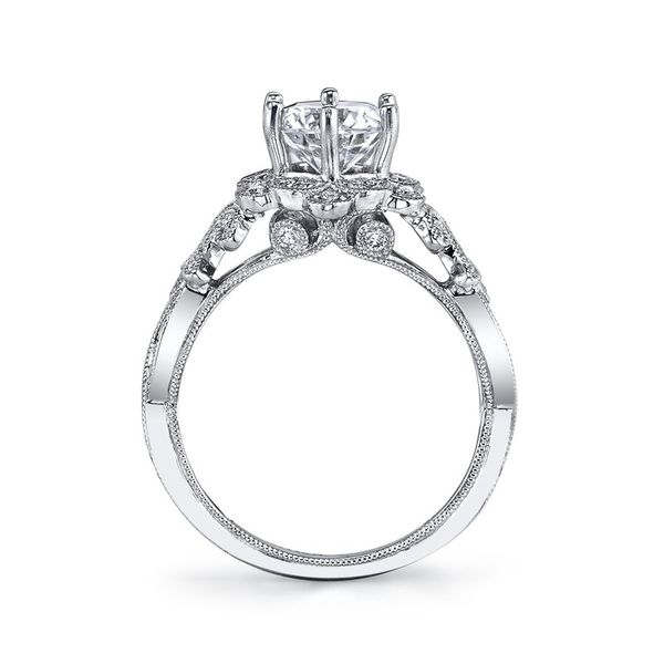Floral Design Diamond Engagement Ring 0.38 Ctw. Image 2 Arezzo Jewelers Chicago, IL