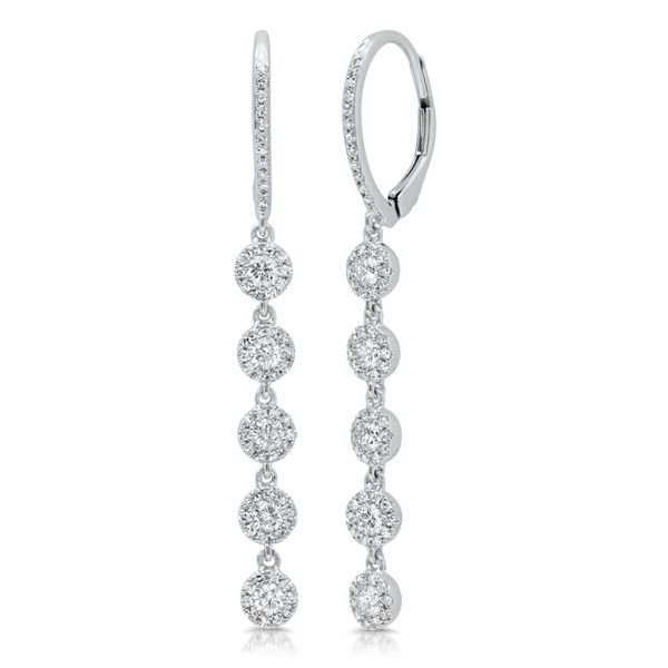 White Gold Diamond Drop Earrings - .99cts Arezzo Jewelers Chicago, IL