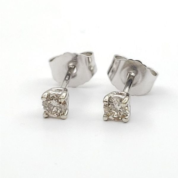 White Gold Diamond Stud Earrings, .17cts Arezzo Jewelers Chicago, IL