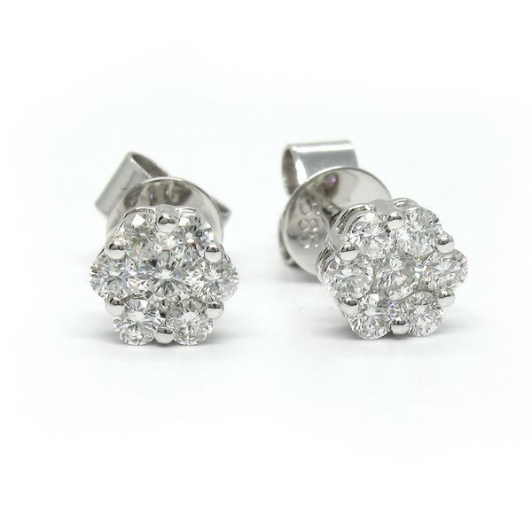 14k White Gold Stud Earrings Arezzo Jewelers Chicago, IL