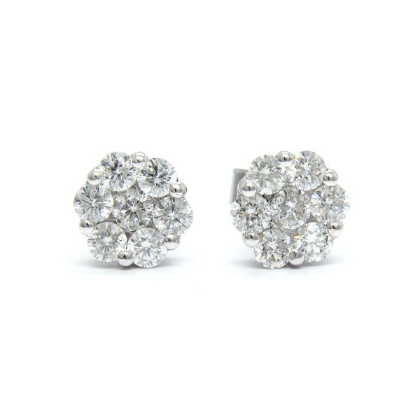14k White Gold Diamond Stud Earrings - .76cts Arezzo Jewelers Chicago, IL