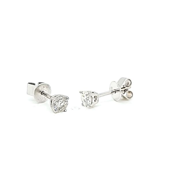 Round Diamond Stud Earrings, .30cts TW Image 2 Arezzo Jewelers Chicago, IL