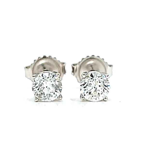 1.04ct Round Diamond Stud Earrings in 14k White Gold Arezzo Jewelers Chicago, IL
