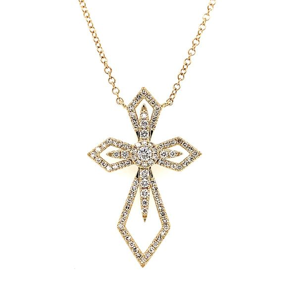14k Yellow Gold Diamond Necklace, .35cts Arezzo Jewelers Chicago, IL