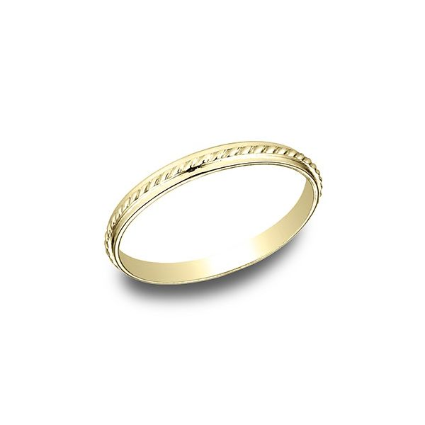 Yellow Gold Wedding Band, 2mm Arezzo Jewelers Chicago, IL
