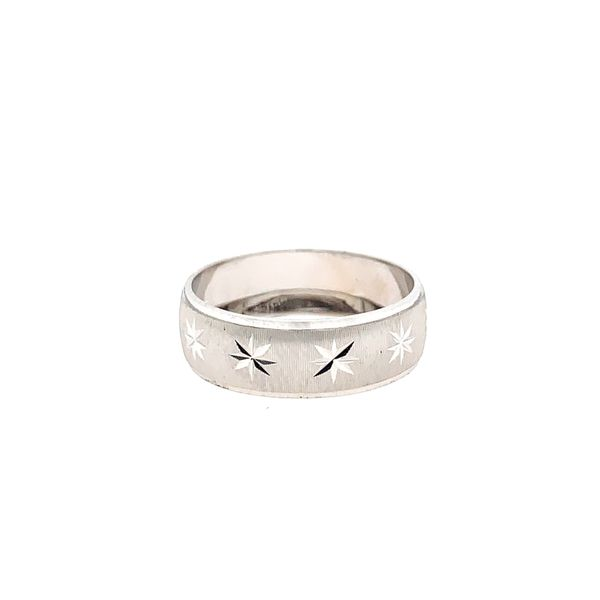 14k White Gold D/c Wedding Band Arezzo Jewelers Chicago, IL