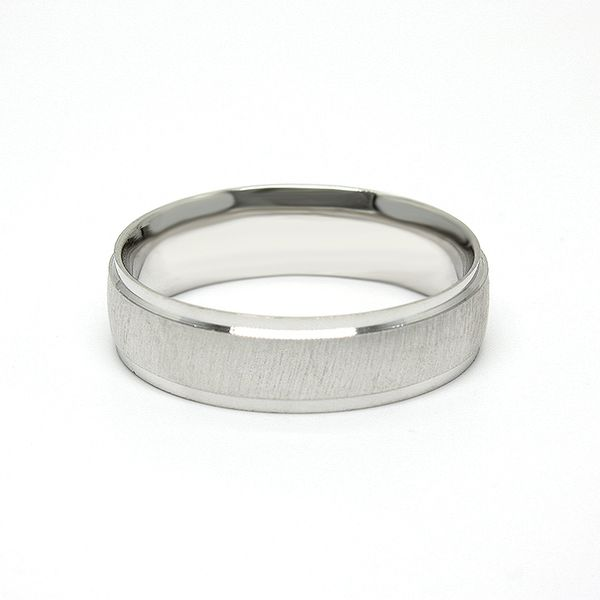 14k White Gold Wedding Band Arezzo Jewelers Chicago, IL
