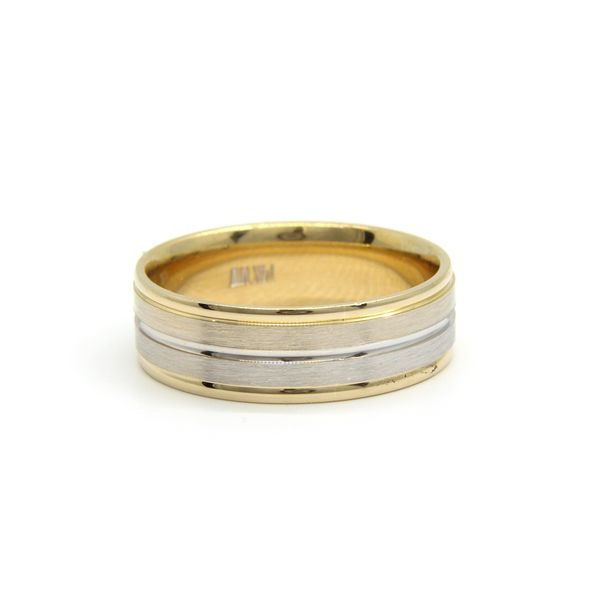 Women's 14k Two Tone Gold Wedding Band Arezzo Jewelers Chicago, IL