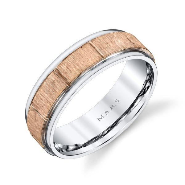 Men's Wedding Band Image 2 Arezzo Jewelers Chicago, IL