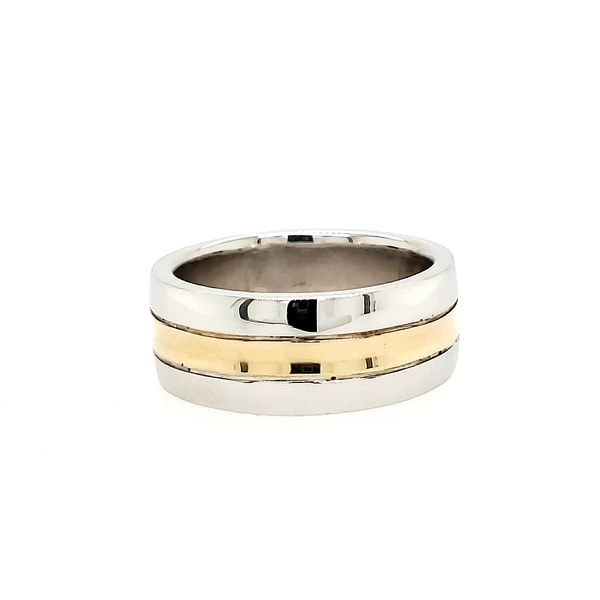 14k Two Tone Wedding Band Arezzo Jewelers Chicago, IL
