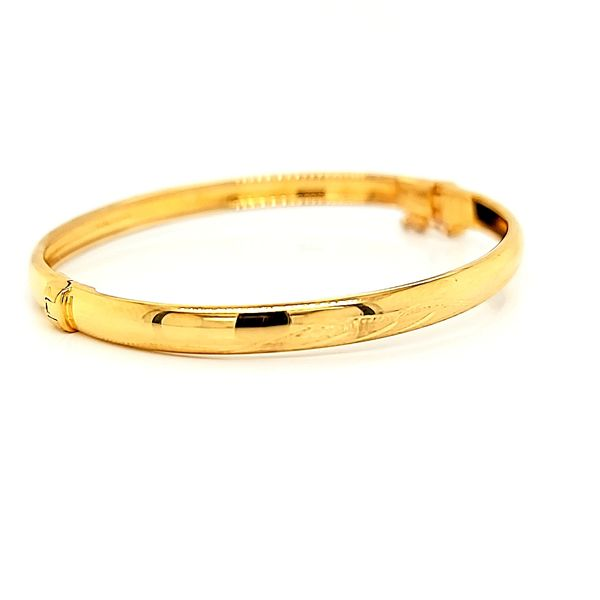 18K Yellow Gold Children's Bangle Bracelet Image 2 Arezzo Jewelers Chicago, IL