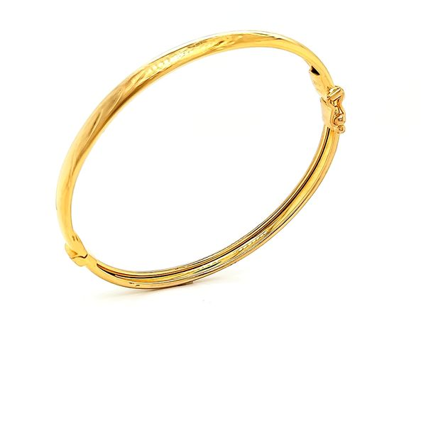 18K Yellow Gold Children's Bangle Bracelet Image 3 Arezzo Jewelers Chicago, IL
